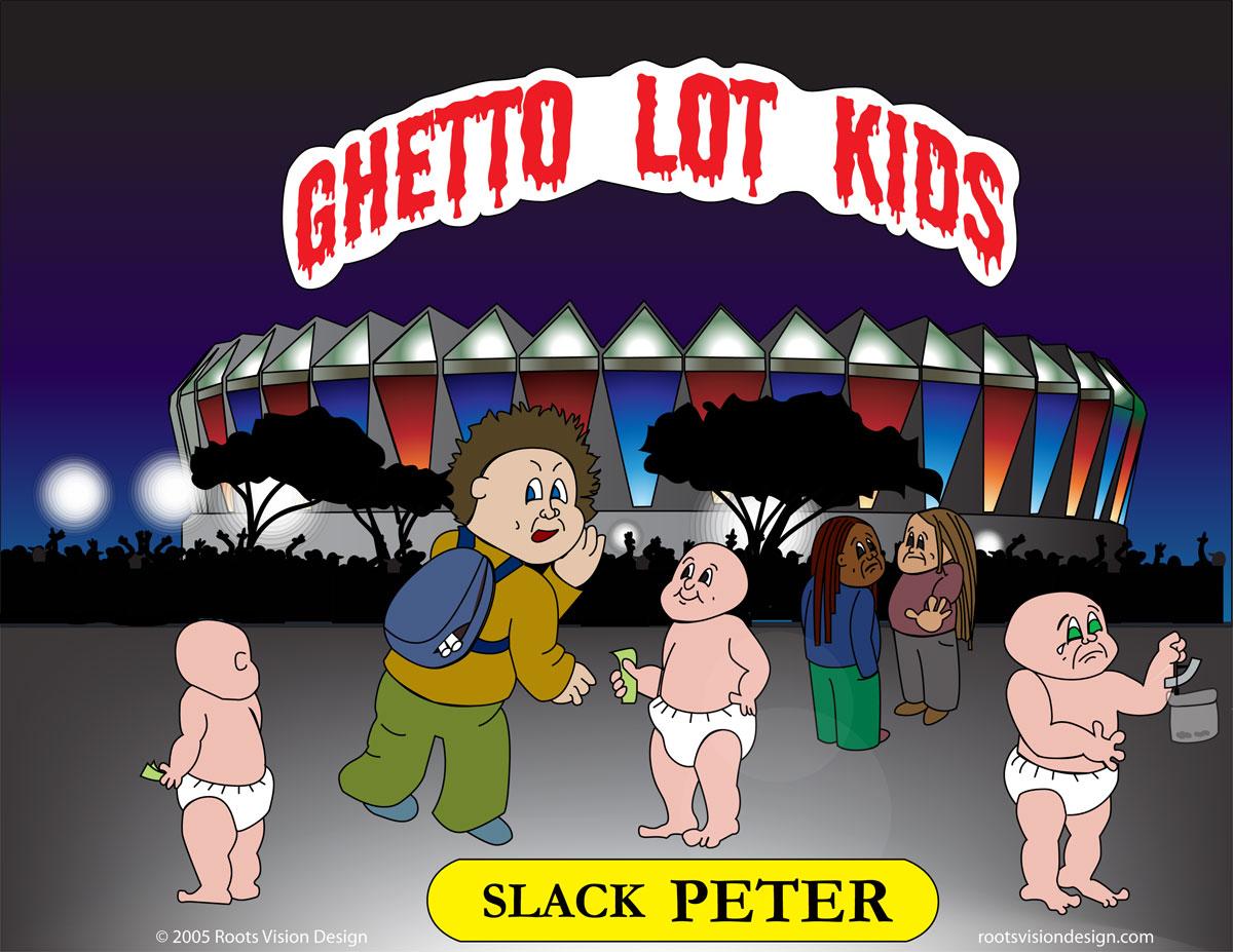A Ghetto Lot kid slinging slack eighths at Hampton Coliseum